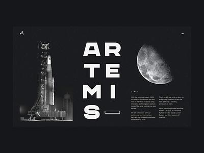 Nasa Artemis 001 editorial artemis grids grid layout layout grid nasa space design website web design typography