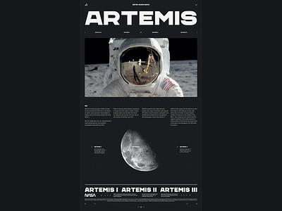 Nasa Artemis 002 web design website webdesign space nasa editorial layout typography grid layout grid editorial web designer artemis