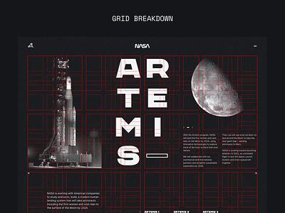Nasa Artemis 004 Grid Breakdown layout webdesign website websitedesign anitmation grid layoutdesign