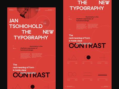 Jan Tschichold The New Typography 002 grid design website concept typography branding grid web design website