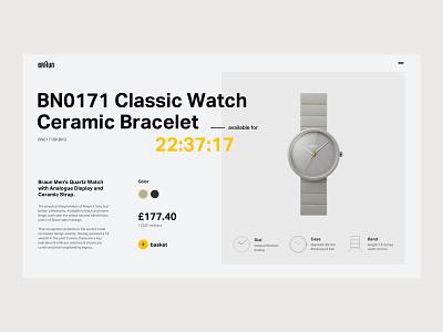 Braun Watch 002C dieter rams grid layout layout website typography ui design ui grid web design