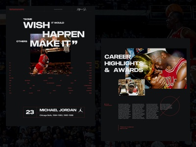 Michael Jordan - Last Dance 001A branding grid design grid layout layout ui ui design typography website web design