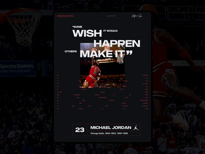 Michael Jordan - Last Dance 001B animation typography grid layout branding layout ui design ui grid website web design