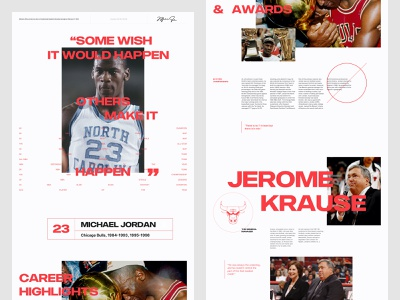 Michael Jordan - Last Dance 002A grid layout design branding layout ui design ui grid website web design typography