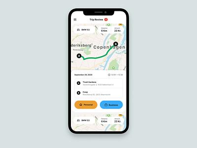 Trip Categorisation startup mobile ios app design ios app desintnation location navigation map ios