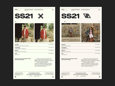 Visvim SS21 02 clothes fashion collection layout grid website web design typography