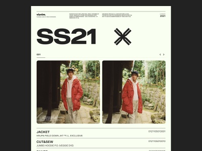 Visvim SS21 01 collection fashion layout grid website web design typography