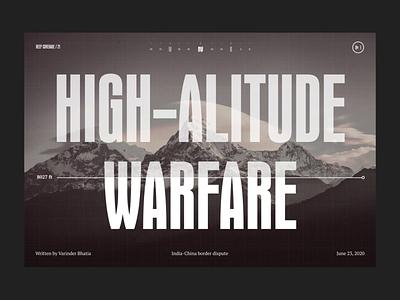 H-AW Hero transition mountain meta article transition animation layout ui design grid hero web design typography