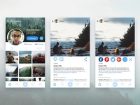 Daily UI – User Profile & Social Share