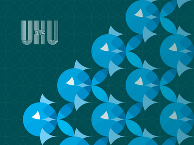 UXU Posters fish print brand circles ux google design poster grid pattern illustration