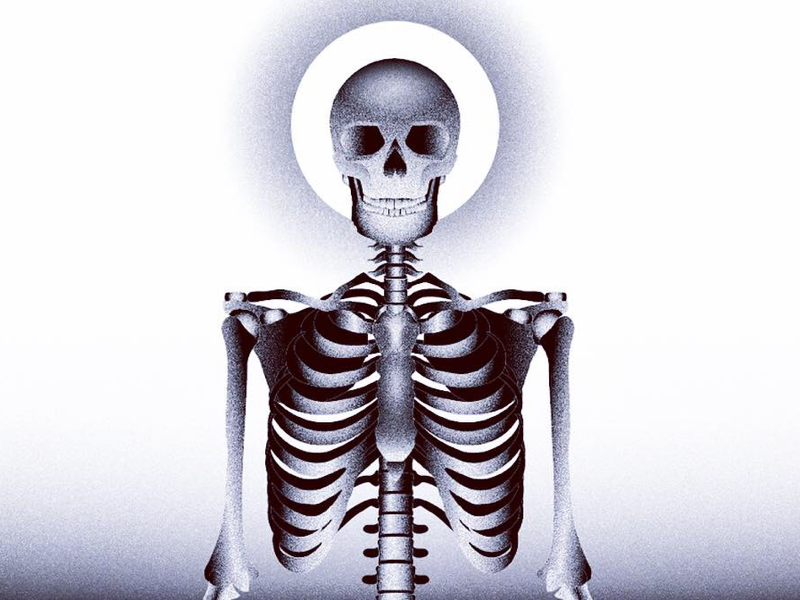 Skeleton vector art scifi design illustration vector