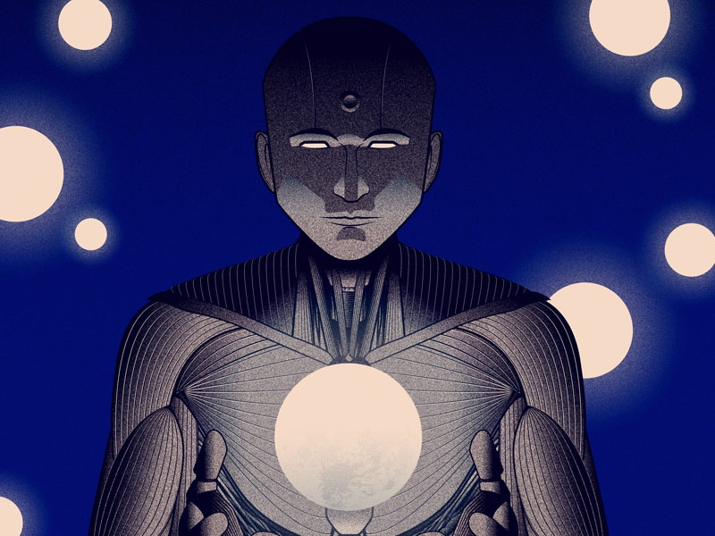 Moonmaker art scifi vector vector art illustration design