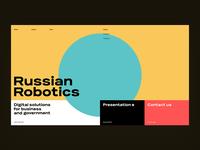 Russian Robotics Website concept