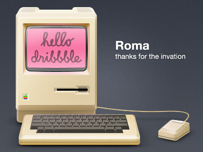 Hello Dribble apple hello debut dribbble mac