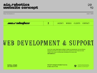aic.robotics website concept