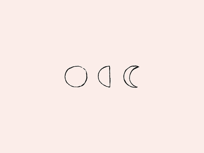 KLE Logo moons illustration graphic design logo identity design