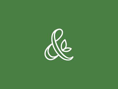 Peach Ampersand natural branding identity mark logo ampersand