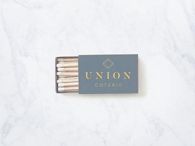 Union Coterie Logo matchbox branding identity logo design