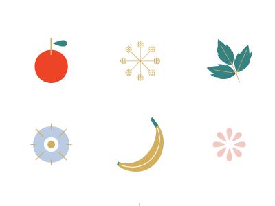 Hummingbird Icons fruit icons branding identity logo design