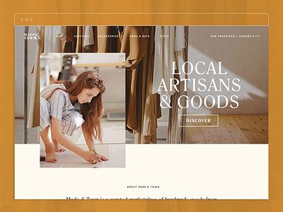 Made & Town website branding ui website design