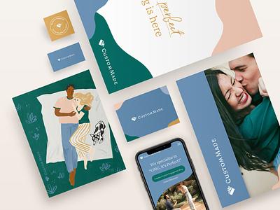 CustomMade Branding jewelry website illustration graphic design design logo identity branding