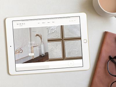Ninos Studio Website Design ui design website