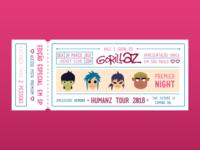 Gorillaz Concert Ticket