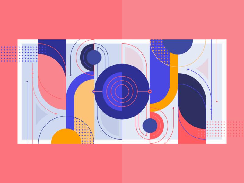 Change of mindset - Medium article flip lines geometry geometric vector illustration illustration startup agency changeofmindset mindset change