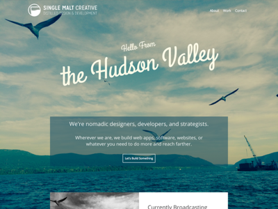 COMPULSORY WEBSITE LAUNCH SCREENSHOT seagull hudson valley web design responsive ui homepage