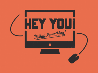 Hey You! (Wallpaper) type wallpaper typography monitor onramp mission script mouse
