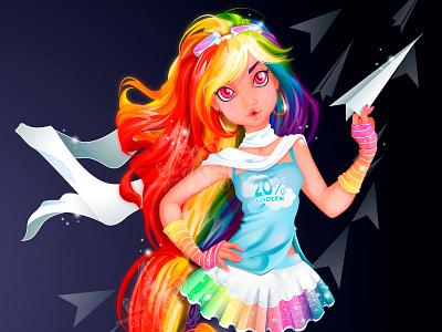 MY MLP: Rainbow Dash hair cool airplanes dash rainbow mlp
