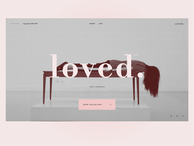loved. ui typography lookbook layout bodoni minimlist fashion design