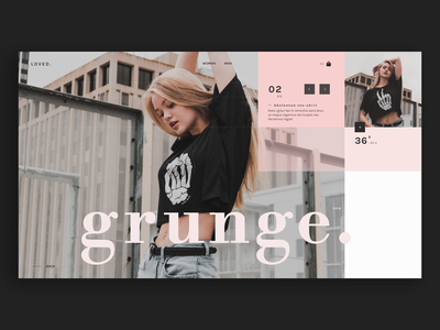 loved. · fashion store · product page loved product page fashion minimal typography layout bodoni