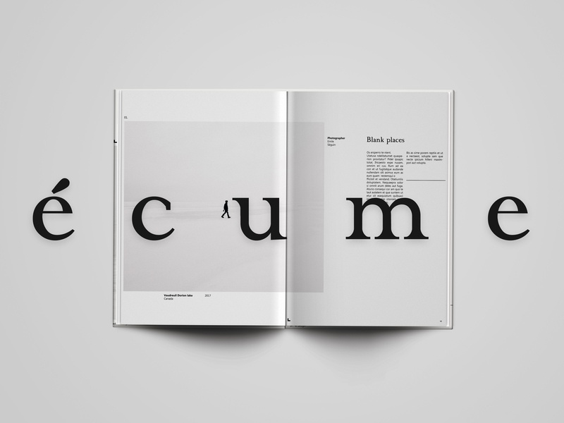 écume · editorial · art magazine negative space typogaphy branding editorial print minimal design grid layout