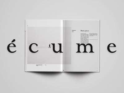 écume · editorial · art magazine negative space typogaphy branding editorial print minimal design grid layout