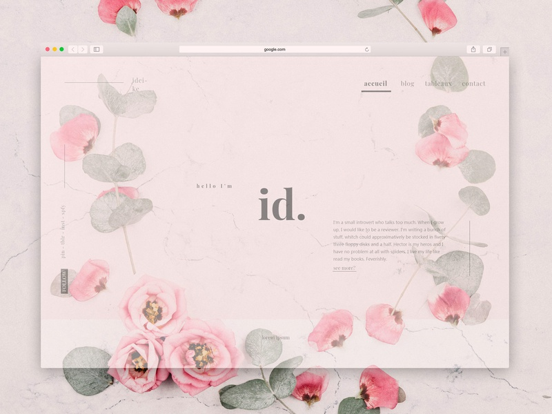 Ideike · author blog · home page blog ui home page grid playfair display minimal typography layout