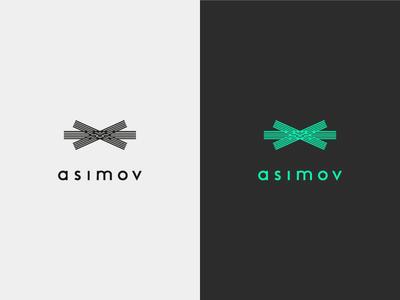 asimov · logotype · android butler android futuristic elegant mark typography identity minimal logo logotype branding