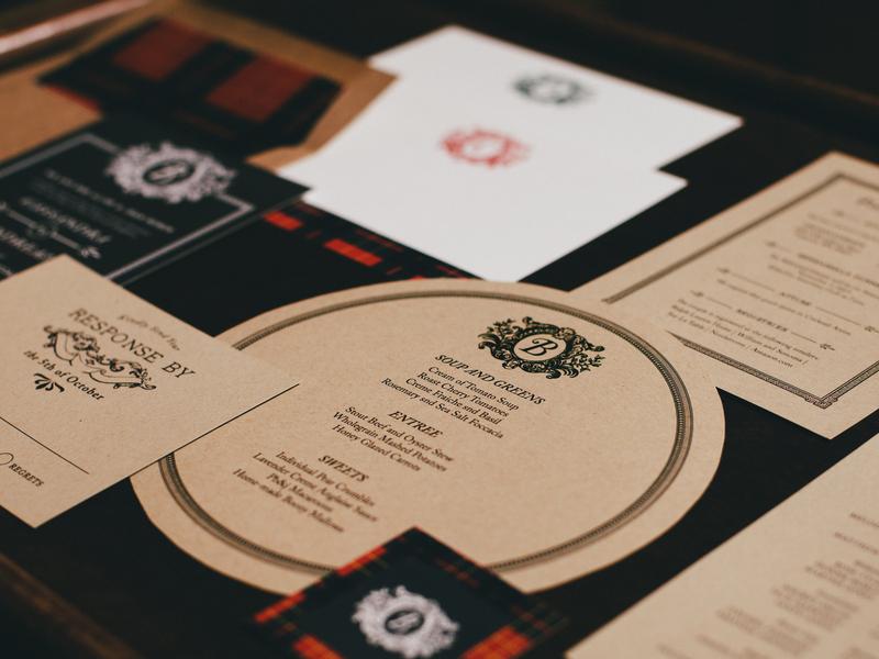 Tree Farm Invitation - Details design rustic logo illustration typography wedding invitation stationery design print