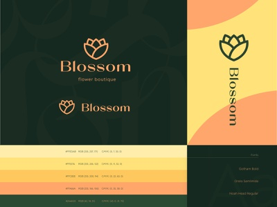 Blossom brand identity  #1 elegance type fonts boutique abstract flowers blossom print letter envelope businesscards logo design brand design logotype logo identity brand identity branding