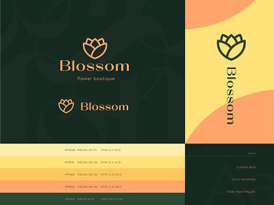 Blossom brand identity  #1 elegance type fonts boutique abstract flowers blossom print letter envelope businesscards logo design brand design logotype logo identity brand identity branding