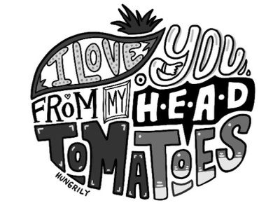 I Love You From My Head Tomatoes procreate app digital letters hand made type hand lettering procreate lettering typography