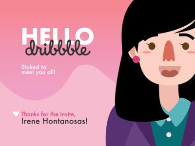 Hey, Dribbble! invite pink vector debuts