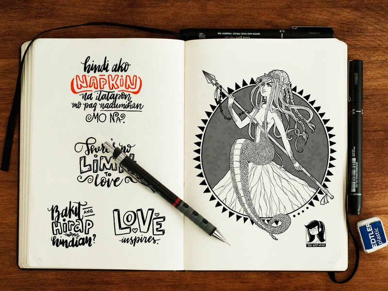 Sketchbook Things character ink illustration calligraphy lettering sketchbook sketch