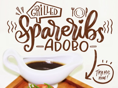 Product Poster for Chef Mama food art lettering art cursive typogaphy procreate ipad pro lettering poster