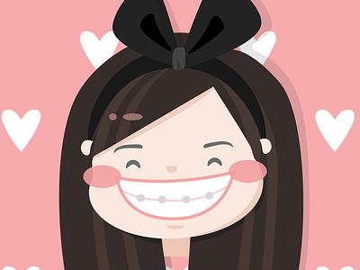 Flor commission caricature cute people illustration vector