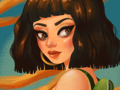 The Year-ender design portrait painting paintin portrait digital procreate illustration