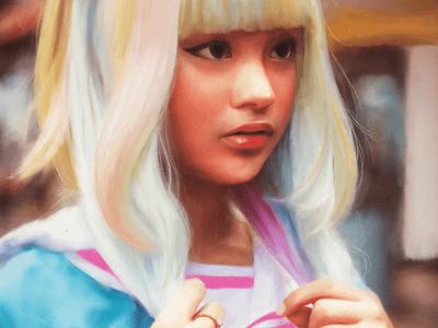 School in Color digital art painting people illustration art portrait artwork procreate digital illustration