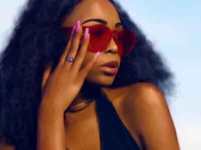 Fash brush painting people illustration portrait digital painting