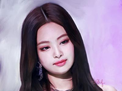 Portrait: Jennie Kim (BlackPink) portrait painting procreate illustration digital korean blackpink