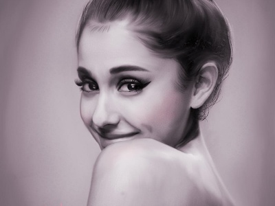 Portrait: Ariana Grande procreate painting digital illustration digital portraits portrait celebrity ariana grande